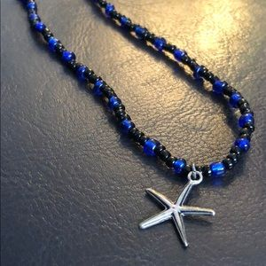 Jewelry - Black and Blue Starfish Necklace